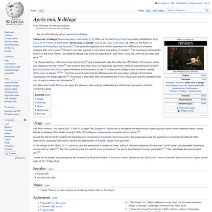 Après moi, le déluge - Wikipedia