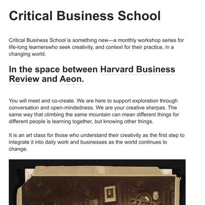 Critical Business Salons