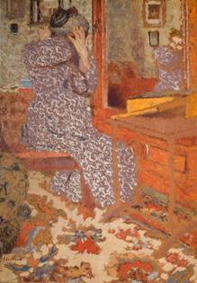 Madame Vuillard Arranging Her Hair  Édouard Vuillard (1868–1940)  The Barber Institute of Fine Arts