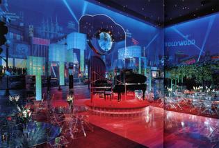 'Deco-Luxe' ballroom of actor Roger Dauer, designed by Roy Sklarin (1989)