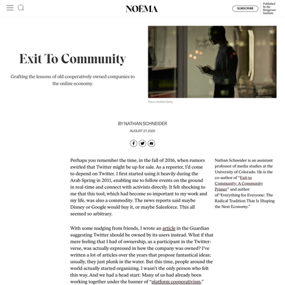 Exit To Community - NOEMA