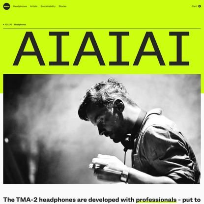 AIAIAI Audio   Trusted by artists all over the world
