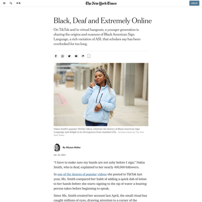 Black, Deaf and Extremely Online