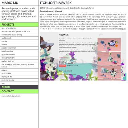 Itchi.io/trialwerk - Mario Mu