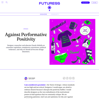 Against Performative Positivity