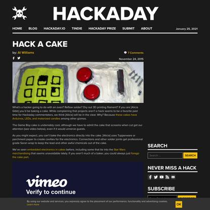 Hack A Cake
