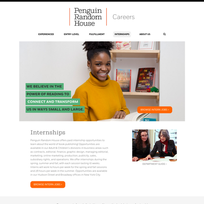 Internships | Penguin RandomHouse