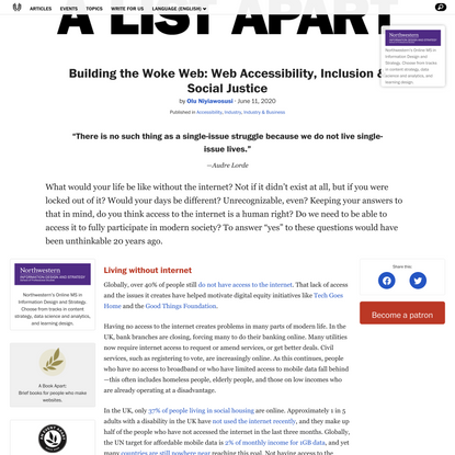 Building the Woke Web: Web Accessibility, Inclusion & Social Justice