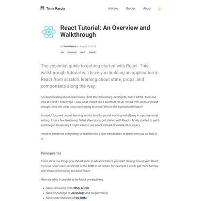 React Tutorial: An Overview and Walkthrough