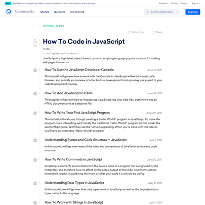 How To Code in JavaScript | DigitalOcean