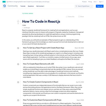 How To Code in React.js | DigitalOcean