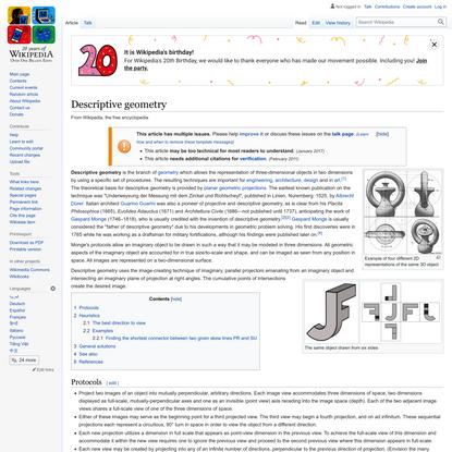 Descriptive geometry - Wikipedia