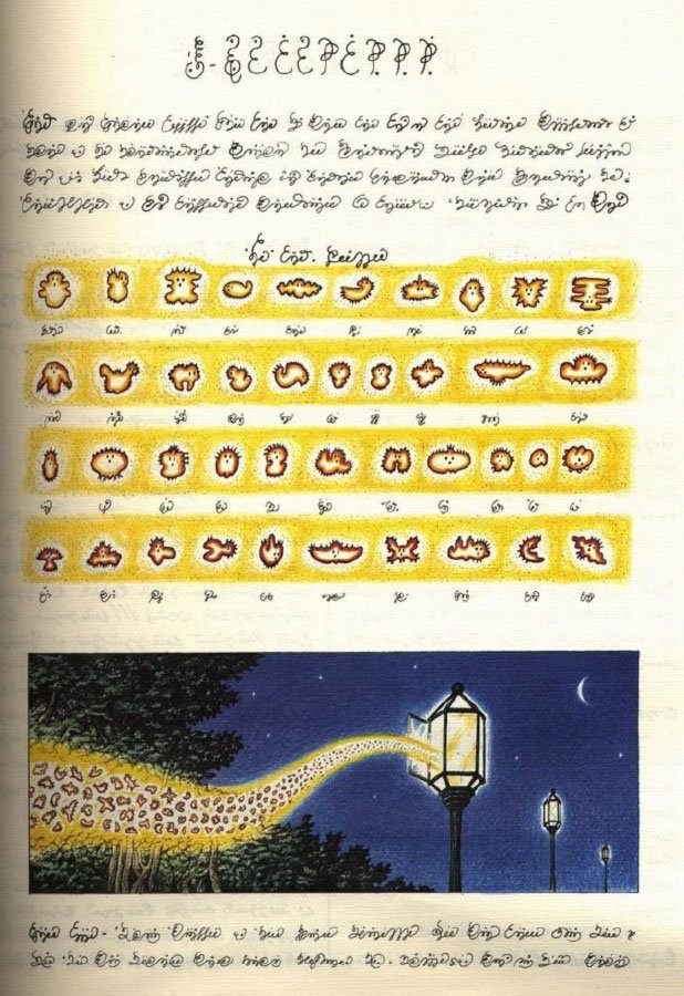 light beings from the codex seraphinianus