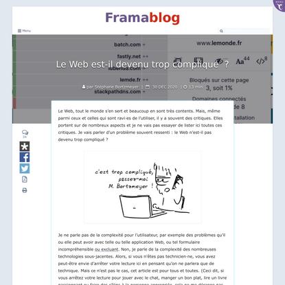 Le Web est-il devenu trop compliqué ? – Framablog