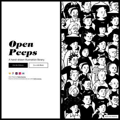 Open Peeps, Hand-Drawn Illustration Library