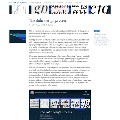 The italic design process   Victor Gaultney