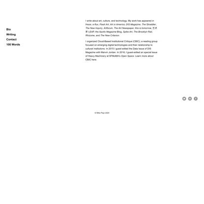 About - Mike Pepi — Mike Pepi