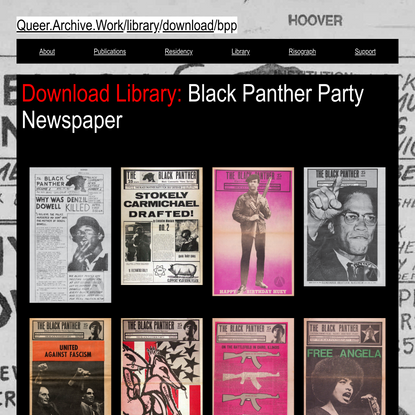 Black Panther Party Newspaper PDFs
