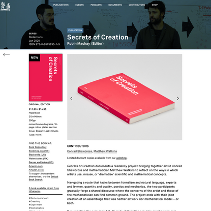 Secrets of Creation - Urbanomic
