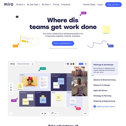 Miro   Free Online Collaborative Whiteboard Platform