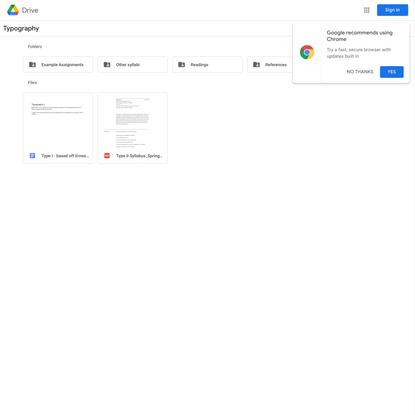 Typography - Google Drive