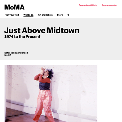 Just Above Midtown: 1974 to the Present | MoMA