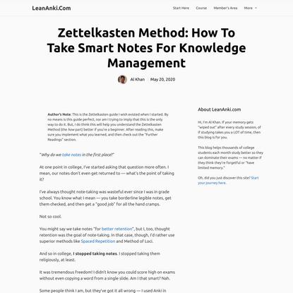 Zettelkasten Method: How to Take Smart Notes (A Beginner's Guide)