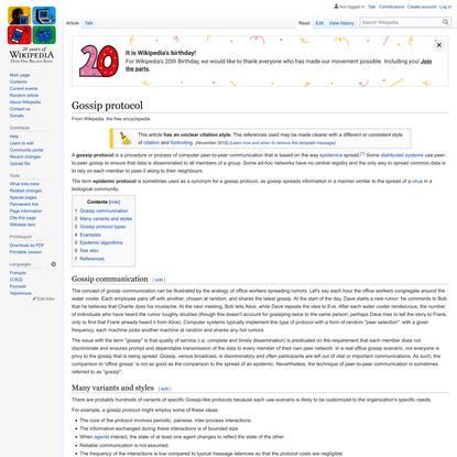 Gossip protocol - Wikipedia