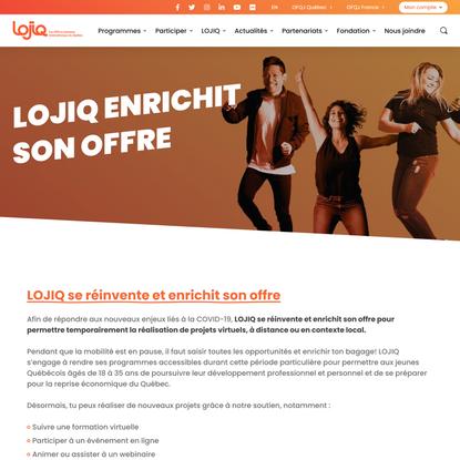 LOJIQ enrichit son offre : projets virtuels, à distance ou local