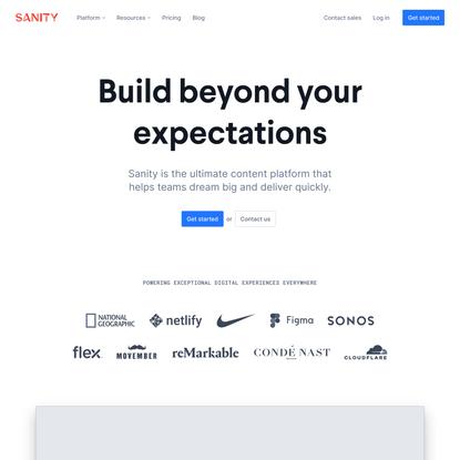 The Ultimate Content Platform – Sanity.io