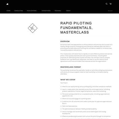Rapid Piloting Fundamentals, Masterclass