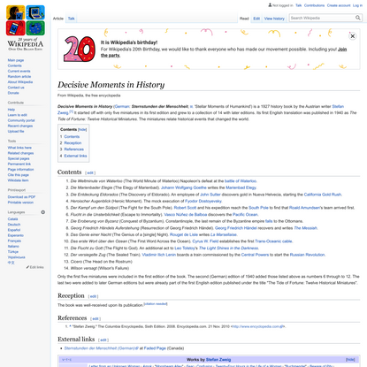 Decisive Moments in History - Wikipedia