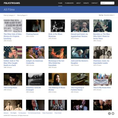 All Films | Folkstreams