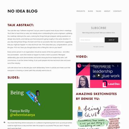 Being Glue — No Idea Blog