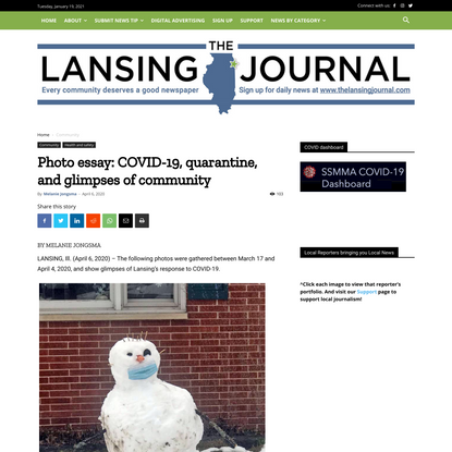 Photo essay: COVID-19, quarantine, and glimpses of community - The Lansing Journal