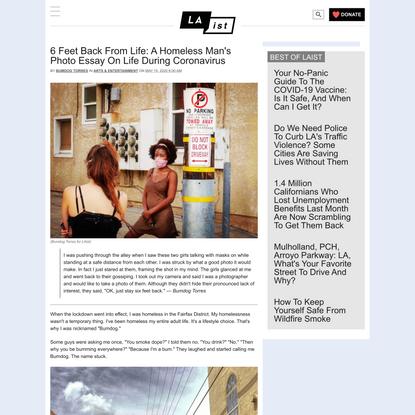6 Feet Back From Life: A Homeless Man's Photo Essay On Life During Coronavirus