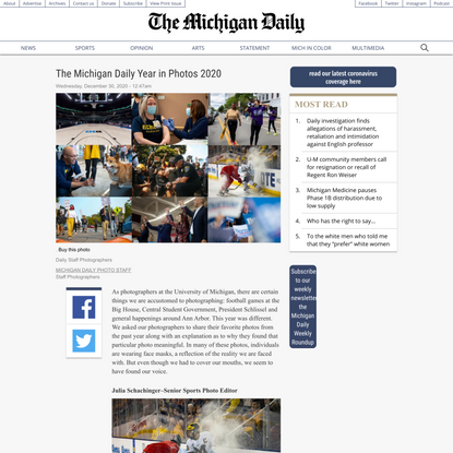 The Michigan Daily Year in Photos 2020