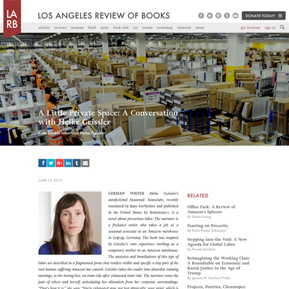 A Little Private Space: A Conversation with Heike Geissler - Los Angeles Review of Books