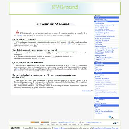 SVGround: cours SVG