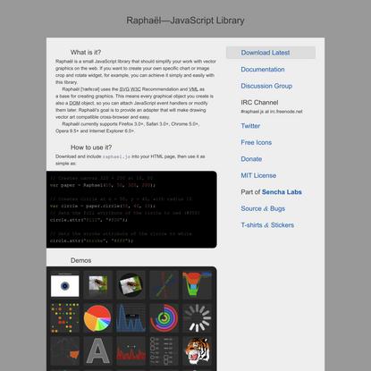 Raphaël—JavaScript Library