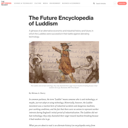 The Future Encyclopedia of Luddism