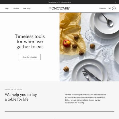 Monoware | Tableware & Home Goods