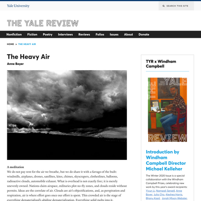 The Heavy Air | The Yale Review
