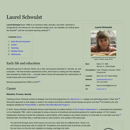 Laurel Schwulst