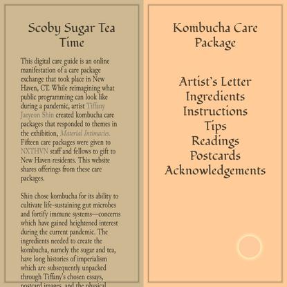 Scoby Sugar Tea Time