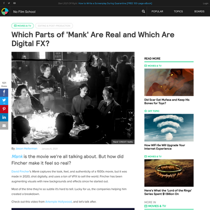 Which Parts of 'Mank' Are Real and Which Are Digital FX?