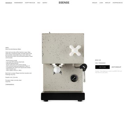 AnZa - Grey Concrete Espresso Maker