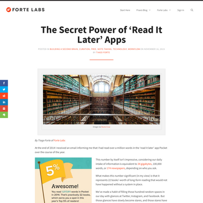 The Secret Power of 'Read It Later' Apps - Forte Labs