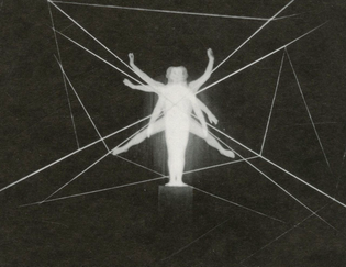 Spatial Delineation with Figure, Oskar Schlemmer. Photograph by Lux Feininger