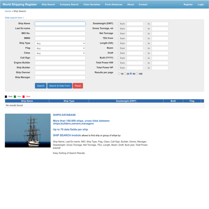 Ship Search | World Shipping Register